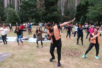 Dancing in the wilderness at Mt Field National Park