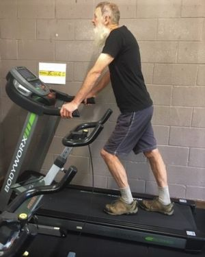 Treadmil - Active gym user from West Winds Community House